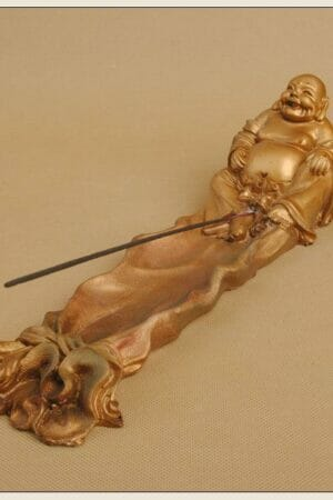 LAUGHING BUDDHA STICK INCENSE HOLDER